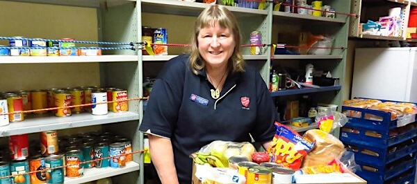 Liz in the Foodbank