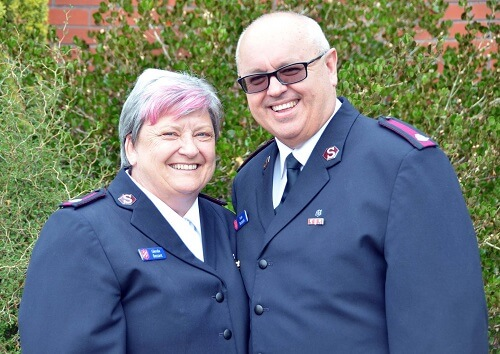 Ivan & Glenda Bezant new corps officers at hutt city corps